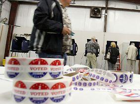 """Den """"Ich habe gewählt""""-Sticker klebten sich im Januar viele US-Amerikaner an."""