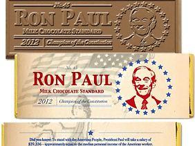 Ron-Paul-Schokoriegel als süße Spenden-Verlockung