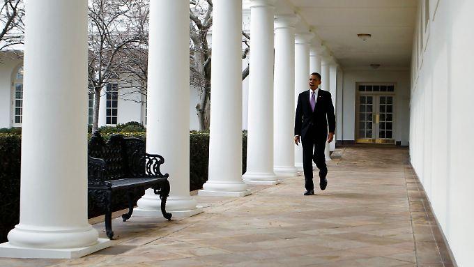 Obama allein im Weißen Haus: In der Bewertung seiner Leistung ist das Land tief gespalten.