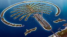 Es ist wie ein Traum aus Tausendundeiner Nacht. Eine Insel in Form einer Palme, von Menschenhand geschaffen. Was hier noch nur in der Computersimulation zu sehen ist ......