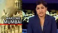 """32 Stunden nach Beginn der Anschlagsserie sagt die Nachrichtensprecherin des Senders NDTV, Bombay sei von Terroristen """"übernommen"""" worden."""