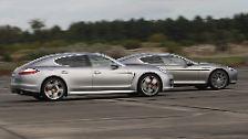 Serienmäßige Luftfederung und eine optionale aktive Chassis-Kontrolle lassen den Panamera so ausgewogen und nüchtern über den Asphalt gleiten, ...