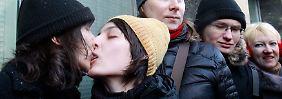 Homosexualität ist in Russland seit 1993 nicht mehr strafbar.