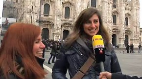 """Stimmung zur Wahl in Mailand: """"Auf keinen Fall Berlusconi!"""""""