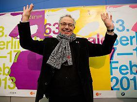 Berlinale-Direktor Kosslick, wie immer gut gelaunt, vor der Pressekonferenz zur Berlinale 2013.