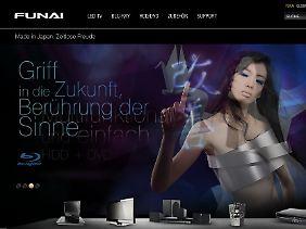Japanisches Design-Verständnis: Funai will mit Heimelektronik den deutschen Markt erobern.