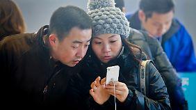 Das iPhone ist zwar in China präsent, der Markt wird aber von einheimischen Marken dominiert.