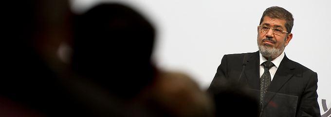 Der ägyptische Präsident bei einer Veranstaltung der Körber-Stiftung.