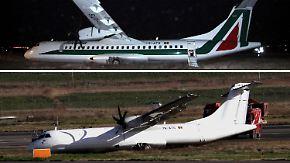 Nach Bruchlandung in Rom: Alitalia übermalt Unglücksmaschine