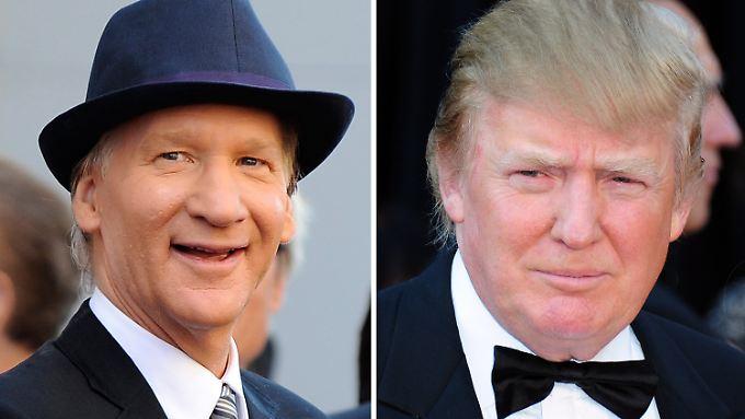 Werden sich diese beiden Herren wohl einigen? Bill Maher (l.) und Donald Trump.