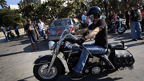 Motorradfreaks unter sich: Harley-Fans treffen sich in Kuba