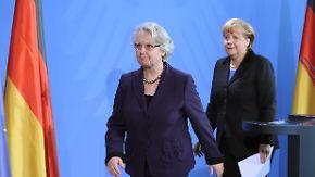 Rücktritte im Kabinett Merkel: Schavan wendet Schaden ab