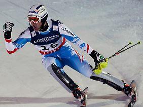 Gefeiert wie ein Sieger: Romed Baumann, Österreichs erster Medaillengewinner bei der Heim-WM.