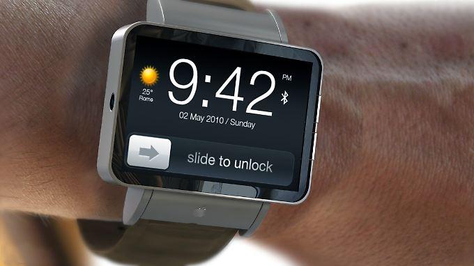 """Ein """"natürlicher Platz"""" für ein Accessoire. So stellen sich Apple-Fans in ihren Blogs die iWatch vor."""