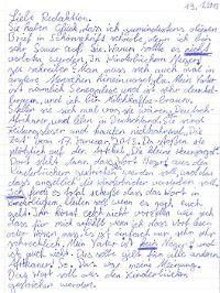 """In einem Leserbrief erklärte eine Neunjährige der Wochenzeitung """"Die Zeit"""", warum es verletzend ist, """"Neger"""" genannt zu werden."""