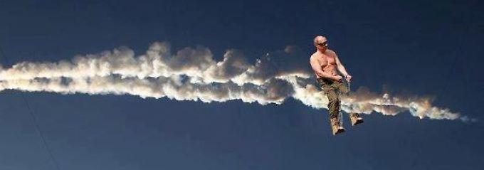 Auch Putins Macho-Attitüde wird verspottet.