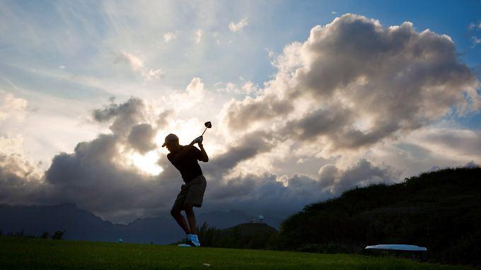 Auch in den Winterferien, wenn er nach Hawaii fliegt, spielt der US-amerikanische Präsident gern Golf.