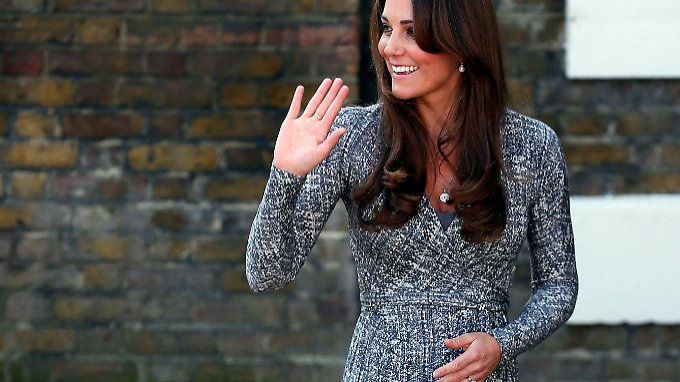Ihr erster offizieller Auftritt als Schwangere wurde sehnlichst erwartet.