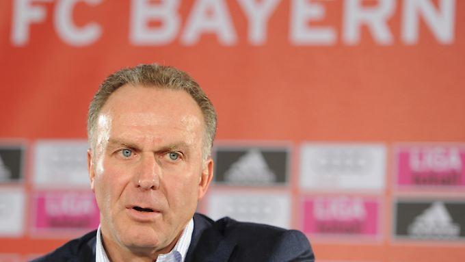 """""""Das ist sehr wichtig, dass der FC Bayern nicht nur national, sondern auch international zur Kenntnis genommen wird"""": Karl-Heinz Rummenigge."""