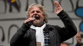 """""""Ihr werdet eine Überraschung erleben"""": Grillo wettert gegen Italiens Politiker"""