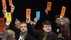 Die Piraten sind fest davon überzeugt, dass sie dem nächsten Bundestag angehören werden.