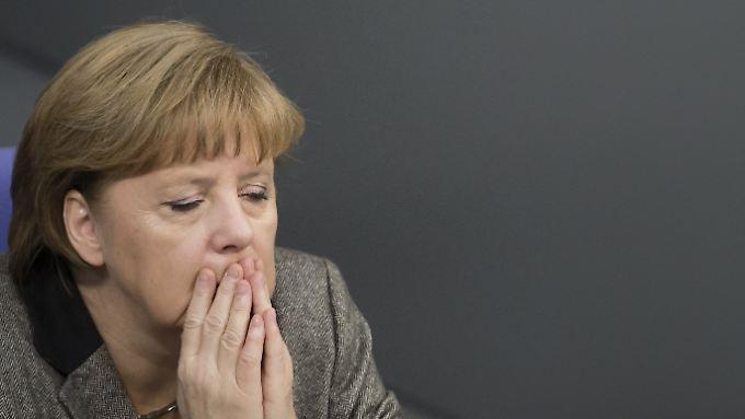 Angela Merkel muss in der Wählergunst einen Rückschlag hinnehmen.
