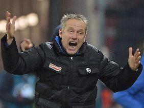 Frust oder Freude? Für Freiburgs Trainer Christian Streich bot das Viertelfinale in Mainz reichlich Grund für beide Gefühlsregungen.