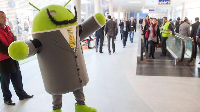 Auf der Messe in Barcelona kommt man an Android nicht vorbei.