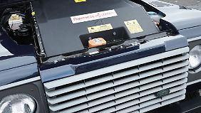 Der Akkumulator ruht dort, wo sonst das Dieselaggregat arbeitet.