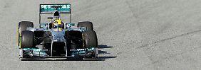 117 Runden spulte Lewis Hamilton im Silberpfeil ab, darunter war auch die schnellste der bisherigen Testwoche.