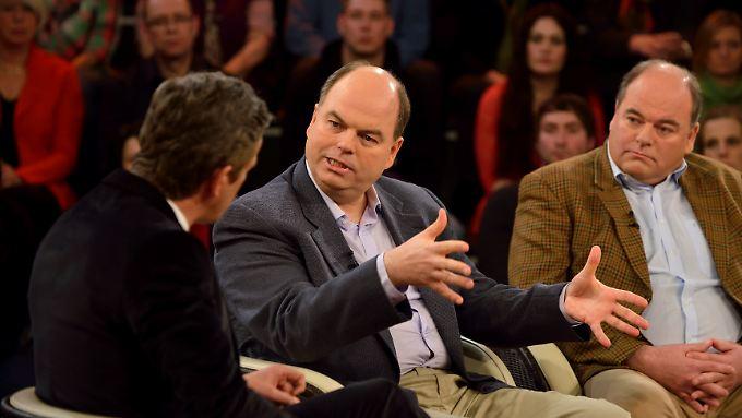 Brüder Peter Kohl (Mitte) und Walter Kohl (rechts) bei Moderator Markus Lanz.