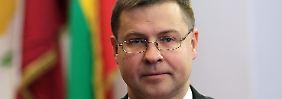 Valdis Dombrovskis will Geschichte schreiben.