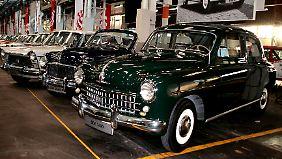 Am ersten Seat überhaupt, dem Modell 1400, stammte alles außer dem Markenlogo aus dem Fiat-Regal.
