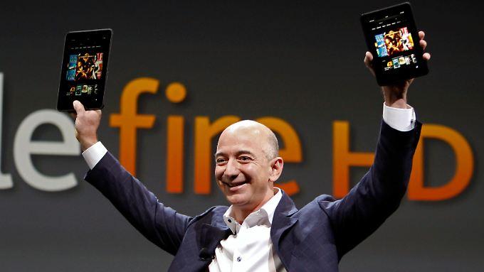 Amazon-Chef Jeff Bezos bei der Produktvorstellung im September 2012.