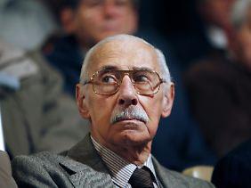 Ex-Junta-Chef Jorge Videla während des Prozesses.