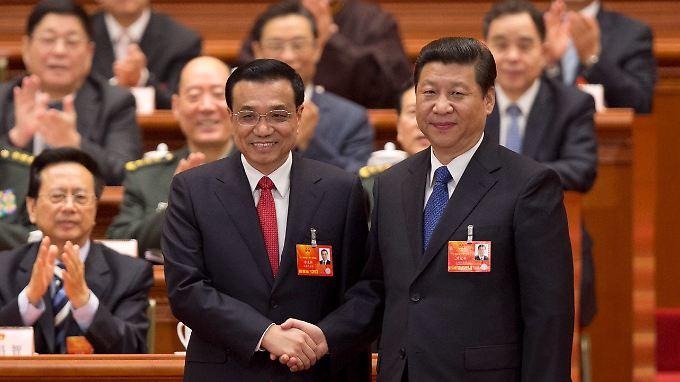 Das neue chinesische Führungsduo: Ministerpraesident Li Keqiang (l.) und Staatspräsident Xi Jinping.