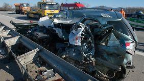 Das Fahrzeug des Unfallverursachers.