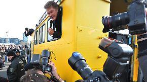 Protest in Berlin: Hasselhoff will East Side Gallery retten