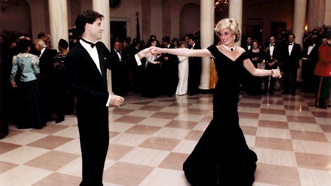 John Travolta und Prinzessin Diana am 12. November 1985 im Weißen Haus in Washington.