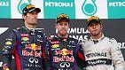 Offenbar sorgt der Zoff zwischen den beiden Red-Bull-Piloten nicht nur im eigenen Team für Unmut. Auch der drittplatzierte Lewis Hamilton scheint sein Lachen verkauft zu haben.