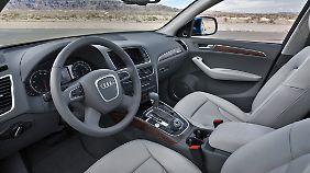 Im Innenraum herrscht die Audi übliche Aufgeräumtheit.