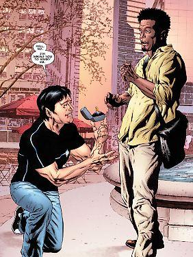 Northstar macht seinem Freund einen Antrag.