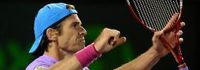 Historischer Tennis-Triumph: Haas deklassiert Djokovic