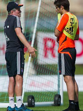 Jupp Heynckes mit Javi Martinez, einem seiner Lieblingsschüler bei den Bayern.