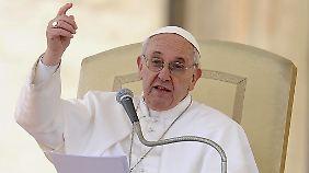 Seine Rede hielt der Papst nur auf Italienisch.