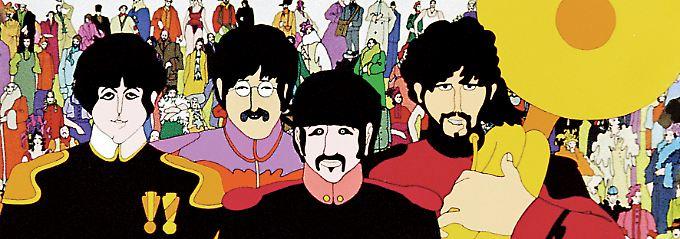 """Psychedelisch, surreal und bunt war das Motto für den Beatles-Film """"Yellow Submarine""""."""