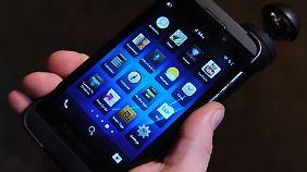 Das Blackberry Z10 spielt seine Stärken als Business-Handy aus.