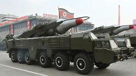 """Weitere Drohungen aus Nordkorea: """"Die Koordinaten sind eingegeben"""""""