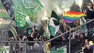 ... und sich der Werder-Anhang mit argen Abstiegssorgen herumplagen muss.