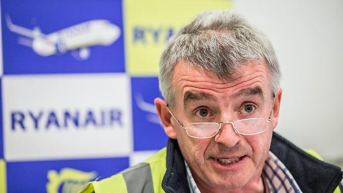 Ryanair-Chef O'Leary will mehr Airports in Deutschland anfliegen.
